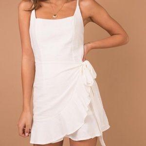 Princess Polly white cottage hill wrap dress
